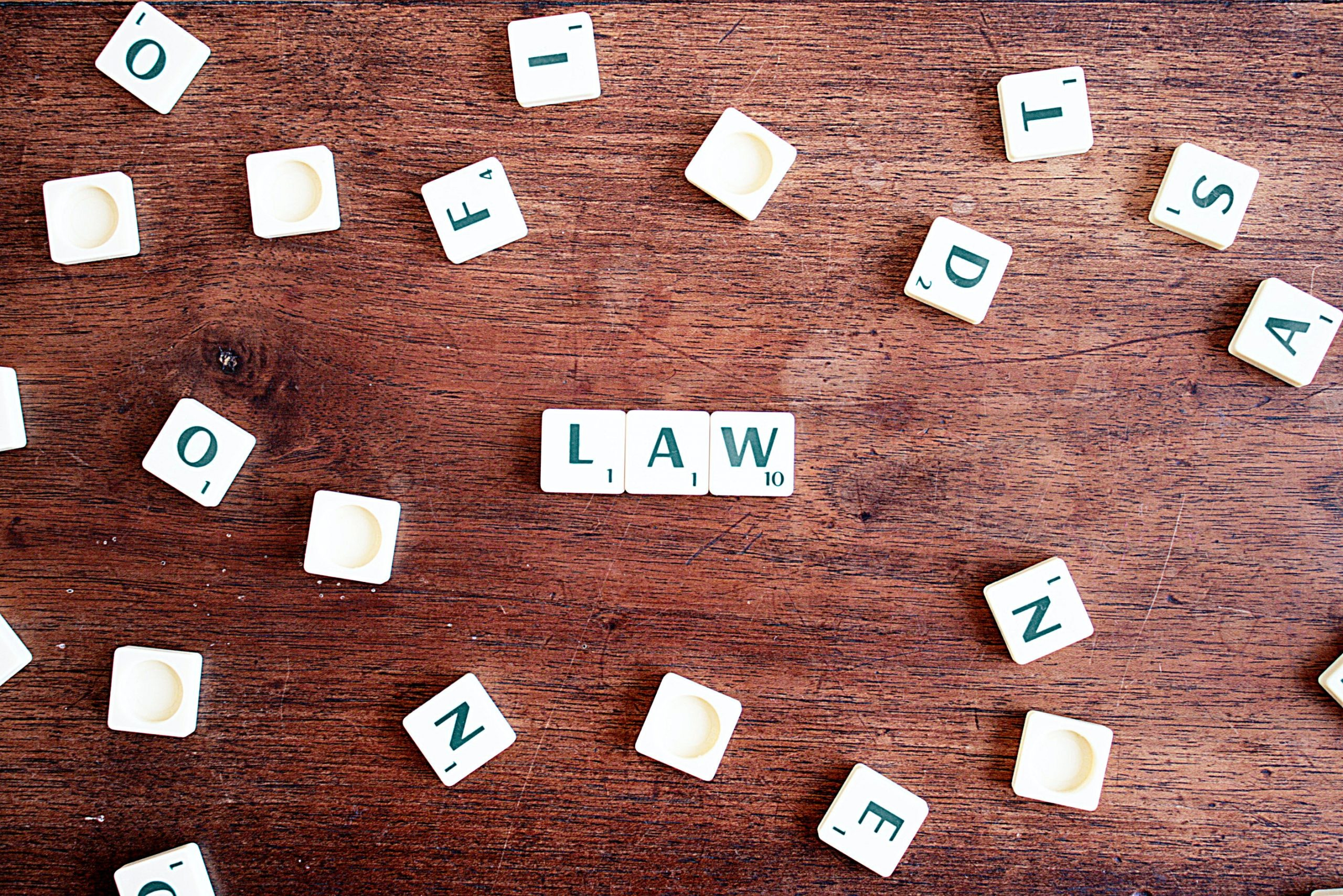 letters spelling out law