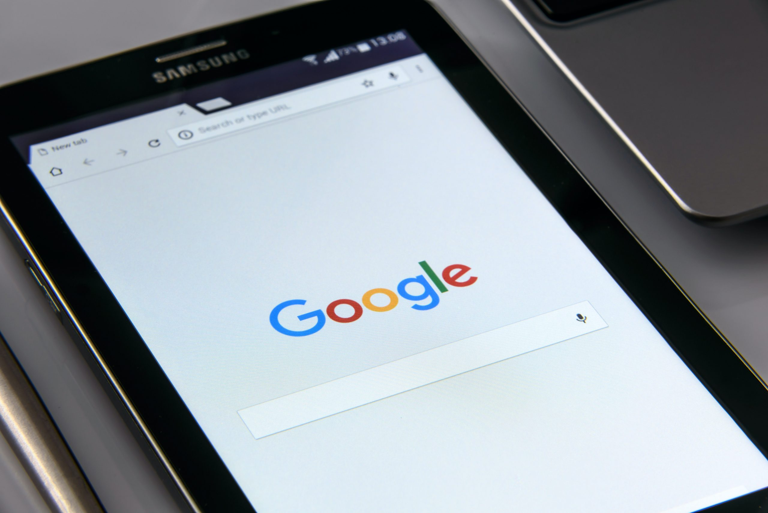 tablet with google search tool