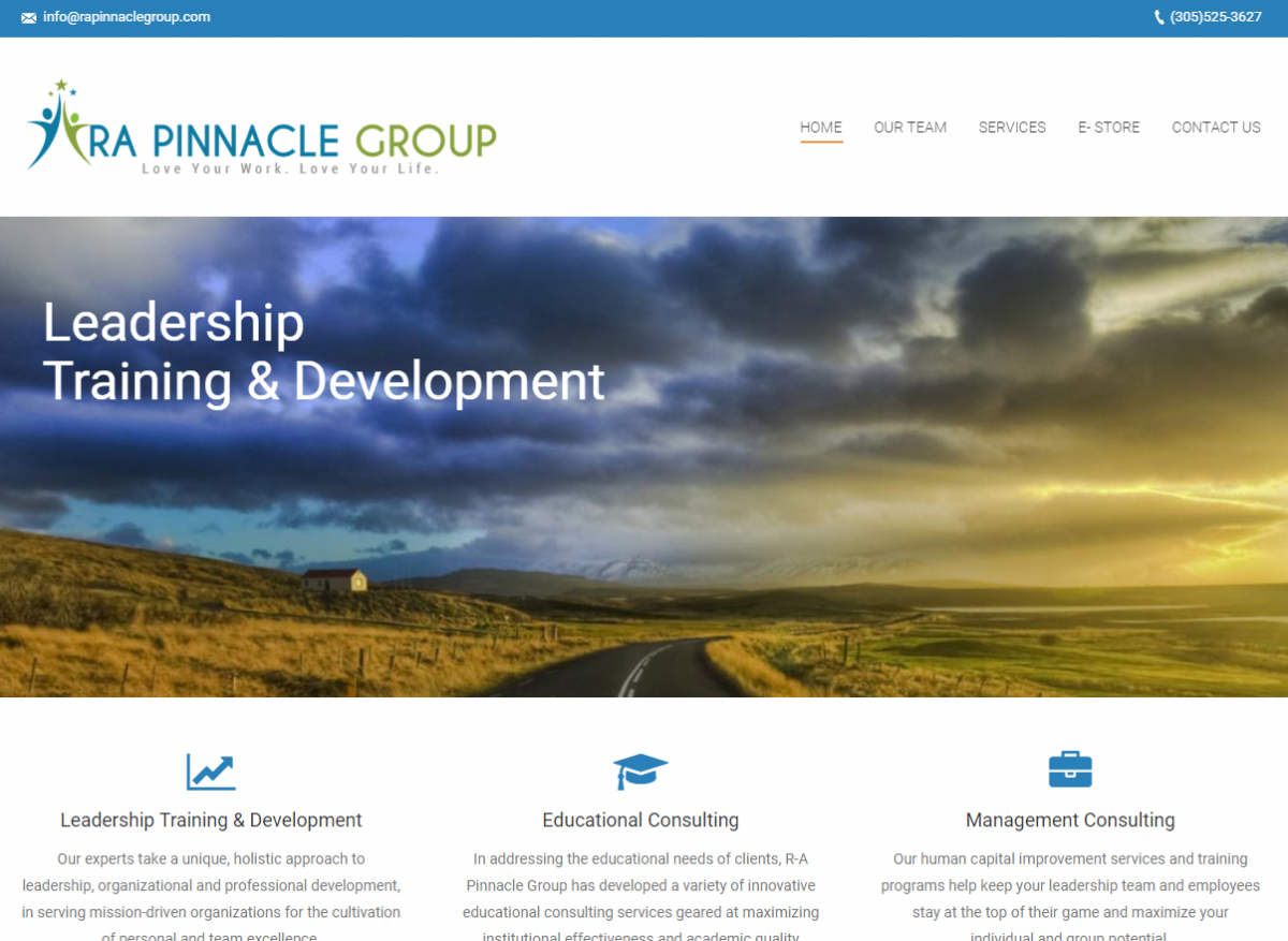 Business Consulting Website Design Example