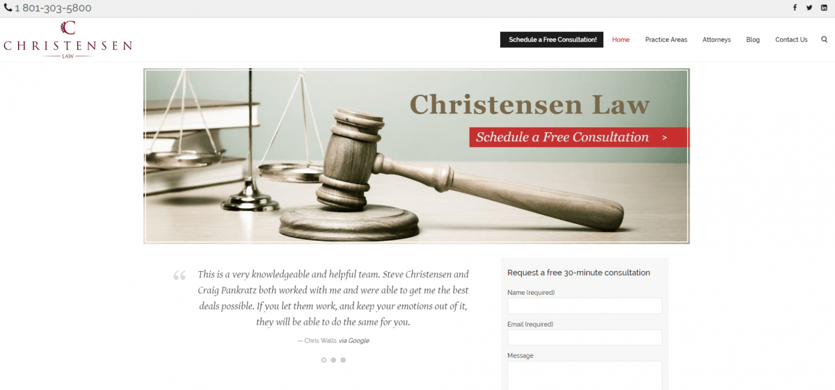 Law Firm Website Design Example