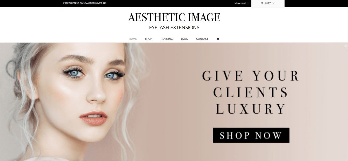 Beauty Website Design Example